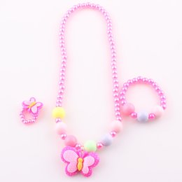 Wholesale 2016 New Hot Sale Vintage Baby Bracelet Children Jewelry Set Necklace amp Bracelets amp Rings Baby Kids Jewelry Accessories T098