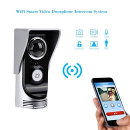 Wifi door bell video intercom 0.3M pixels CMOS door camera IR Night vision PIR Motion Sensor Rainproof video peephole doorbell
