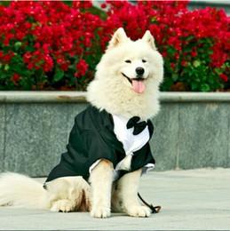 Большие костюмы для собак для продажи-Большой Одежда для собак Большой собак свадебный костюм смокинг одежд одежды бульдогов собаки Формальное партии костюм пальто куртки костюма одежды