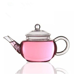 Wholesale Kettle Sets - Tea Pot Glass Teapot With Stainless Steel Wire Tea Kettle Blooming Flower Tea Pot For Sale