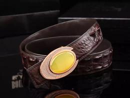 Wholesale High end crocodile skin bless bowlder with diamond button gold chrome handmade natural diamond buckle three colours buckles wear very luxury