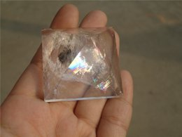 Wholesale NATURAL CLEAR WHITE QUARTZ CRYSTAL PYRAMID For Gift For Collection mmx40mm