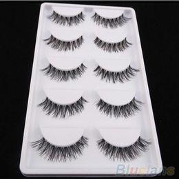 Wholesale Pairs Black Cross False Eyelash Soft Long Makeup Eye Lash Extension