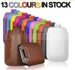 For Samsung Galaxy S4 S5 I9600 Note 3 Pull Tab Sleeve Bag Pouch For iPhone 5 6 6S Plus Full Protective Phone Case