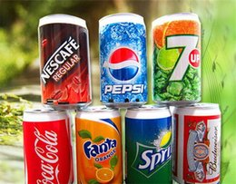 Wholesale TF Card Mini Speaker Cans Coke Pepsi Fanta Up Sprite Beer Can Speakers USB Portable Sound Player Multimedia Speakers FM Radio epacket free
