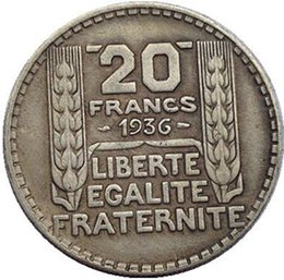Wholesale France copy coins copper silver plated Art collection gifts Retro coins