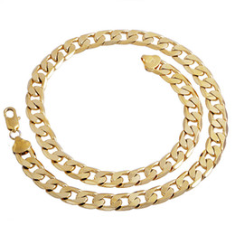 14mm fashion cuban link boys Gold plated mens chain hip hop necklace long 20in