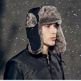 2017 sombreros trampero De alta calidad al por mayor caliente del invierno 2016 Prueba Trapper sombrero, sombrero de aviador mujeres, sombrero ruso, deporte al aire libre el oído agita bombardero casquillos para los hombres sombreros trampero en venta