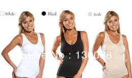 Wholesale-NEW ! Sexy Bra Cami Shaper By Genie With Removable Pads Look Thinner Instantly the Ultimate 3 in 1 Garment (No Retail Box)