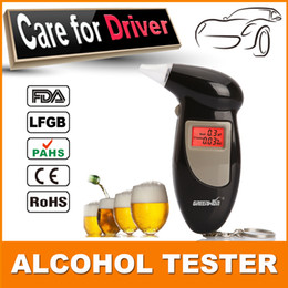Wholesale Analyzer Detector with mouthpiece Digital LCD Backlit Display Key Chain Alcohol Tester Alcohol Breath Analyzer Digital Breathalyzer