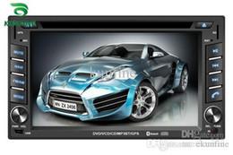 Promotion tuner audio vidéo Universal 6,2 pouces écran tactile 2 Din voiture DVD GPS Player voiture stéréo avec radio audio USB / SD Bluetooth / TV et le volant de contrôle