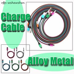 aluminium alloy braided wire Micro USB V8 Cable 3FT 6FT 10FT USB Sync Charge Charger Cable Cord