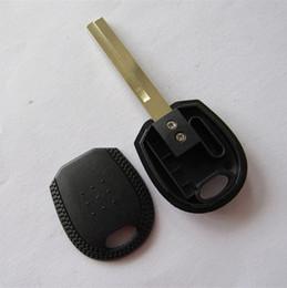 Uncut blade transponder chip key shell blank for kia transponder key FOB case free shipping