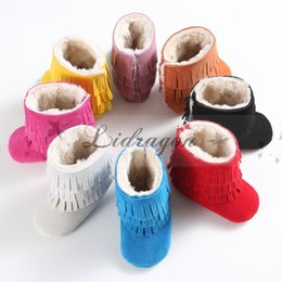 Wholesale Newest Layer Tassel Moccasins Latest Pu Leather Baby First Walkers Shoes Newborn Baby Boots Infant First Step Shoes Prewalkers M379