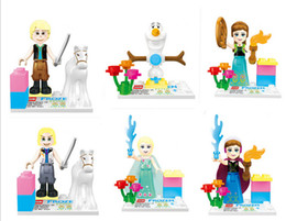 Wholesale Girls Friends Minifigures Building Blocks Sets action Figures brinquedos Anna Elsa Frozen toys DIY bricks baby toy