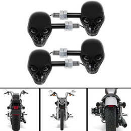 Wholesale Motorcycle Parts Harley Davidson motorcycle performance LED the black skull turn signals electric car conversion LED turn signal