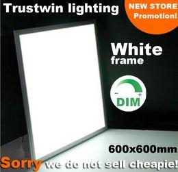 White frame square LED ceiling light ultra thin 2x2 LED panel light 600x600 white 36W 40W 48W dimmable panel light LED