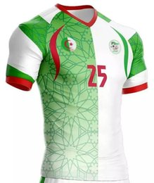 Wholesale 2016 Algeria Green White Home Jerseys Soccer Suits Adult Wear Mens Football Shirts Kits Sets Great Quality Newest Arrivals