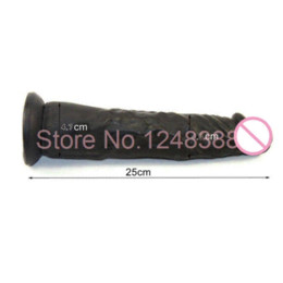 Wholesale Suction Cup G Spot - Sex Products 9.8 Inch Lifelike Dildo with Suction Cup Penis Big Black Dildo For Female Masturbation G Spot Stimulation