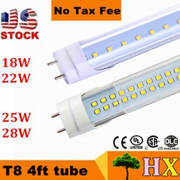 Wholesale Double Sides T8 ft led tubes W W W W regular T8 led lights tubes LEDs High Lumens AC V CE UL