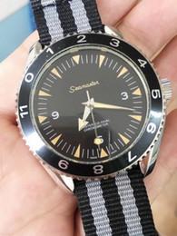 Wholesale Brand New Stylish Automatic Mechanical Limited Edition Men s Wristwatch Fabric Belt Glass Back James Bond Spectre watches