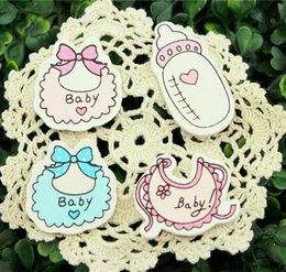 Wholesale Babys Series Wood Figure Wall Sticker Return Gifts Baby Shower Birthday Party Decoration Kids