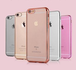Wholesale Colorful TPU Backcover Ultra Thin Transparent Clear Electroplating Plating Case for Iphone Plus S Plus Samsung S7 S7 Edge