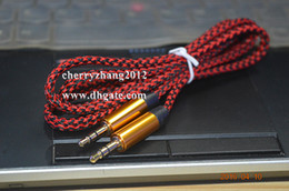 Wholesale Lowest Price mm to mm Car Aux audio Cable Extended Audio Auxiliary Cable Best sale DHL FEDEX