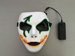 Wholesale LED MASK LIGHTING MASK FLASH MASK HOLLOWEEN GIFT New Hot Sale Flash El Wire Led Glowing Dj Facial Mask Cosplay Fashion Dance Party Mask