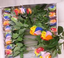 Wholesale K1523 Simulation Artificia Multi ful Rose Bouquet Soap flower Craft Wedding Decorative Fragrant Valentine s Day Birthday Gift