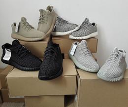 Wholesale Kanye West zapatos corrientes de Boost zapatillas de baloncesto para hombre negro corriendo zapato Zapatos Top zapatillas de deporte para mujer de baloncesto