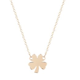 Wholesale 10pcs New Style Simple Beautiful Four Leaf Clove Lucy Four Leaf Necklace for Girlfriends Birthday Gift Idea