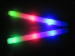 Conduit mousse bâton clignotant à vendre-720pcs de livraison gratuite / lot LED clignotant mousse bâton de lumière jusqu'à acclamant mousse de bâton lumineux pour Noël