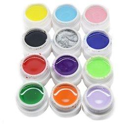 12PCS / SET 8ml par le gel UV d'ongle de gel d'art de pot le nouveau Gel purifié de gel de manucure de clou de scintillement de scintillement Vernis gelpolish 160721 # glitter nails pots promotion à partir de ongles glitter pots fournisseurs