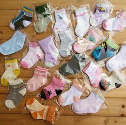 Fashion new born baby toddler socks kids girl boy cartoon cotton socks many designs colorful Christmas gift 0-12M drop shipping