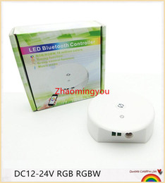 Free shipping DC12-24V RGB RGBW Bluetooth LED Controller,Timing Function, Group Control, Music Mode, apply to IOS Android