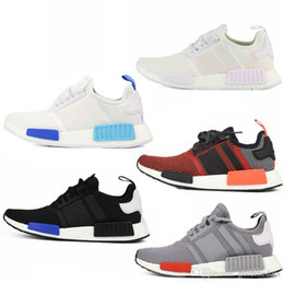 Wholesale Cheap NMD R1 Primeknit Runner PK Hot Sale Men s Women s Classic Cheap Fur Sneakers Fashion Sport Running Shoes With Box
