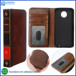 Wholesale Retro Bible Vintage Flip Leather Phone Cover Case For MOTO Z Business Book Wallet Pouch With H Nano coated Films