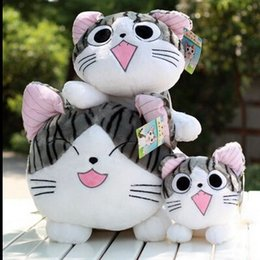 Wholesale 1pcs quot cm Christmas birthday gifts Japan anime figure cheese cat owners Swweet plush stuffed toy doll pillow cushion