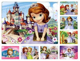 Wholesale pieces The animated cartoon Sofia princess puzzle paper children baby toys gifts cm