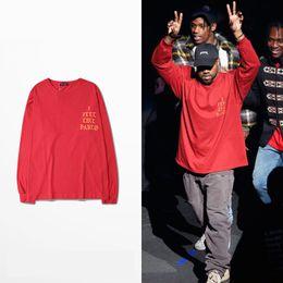 2016 New Arrival Yeezus T-Shirt Kanye West I Feel Like Pablo SEASON 3 Hiphop Man Sport T-Shirts Man Red T Shirt