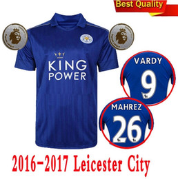 Wholesale Thailand Quality Season Leicester City Home Soccer Uniform Football Jerseys DRINKWATER ULLOA DYER MAHREZ VARDY