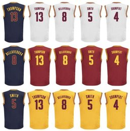 Wholesale Men Iman Shumpert Jersey Printed Jr Smith Shirt Matthew Dellavedova Tristan Thompson Uniforms Team Red Yellow White Navy Blue