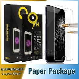 Wholesale For iPhone Tempered Glass Screen Protector Iphone Plus Iphone Galaxy S6 ON5 LG V20 Film Perfect Protection Paper Package Pieces