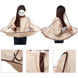 Hair Cutting Fold Umbrella Waterproof Adult Hair Cutting Fold Umbrella Cape Salon Barber Hairdressing Gown Barbers Special Cloth Hair Scarf