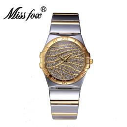 NUEVOS mejores relojes de oro de la calidad Reloj Reloj de las mujeres del oro Reloj Reloj impermeable romántico del cuarzo de la manera del regalo desde los mejores relojes de moda de calidad proveedores