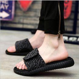 Wholesale 2016 New Summer Kanye West Slipper Men Sandals Outdoor Beach Slippers Slip massage Women Beach sandals