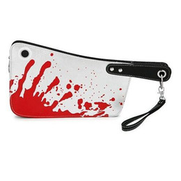 Wholesale Personality Bloody Cleaver Day Clutch Coin Purse Punk Novel kitchen knife Shape and blood Print multifunctional Wristlet bag Handbag Bolso