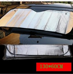 Wholesale LJJK253 cm New Car Truck Front Windshield Sun Shade Visor Cover Double Thick Aluminum Foil Foam Car Auto Window Windshield Sun Visor
