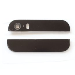 New Rear Top Bottom Glass Lens Cover For iPhone 5G 5S With Camera Flash Lens + Adhesive Free Shipping